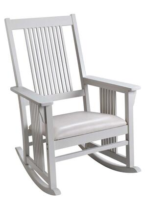 3900W Mission style Adult Rocking chair with Upholstered Seat (White