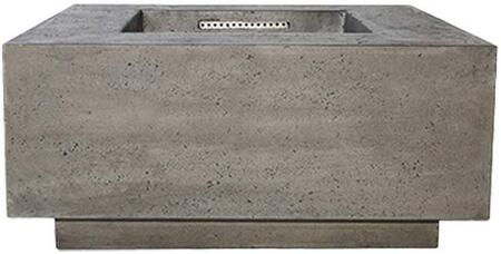 PH-406-4NG 36″ Tavola Series Natural Gas Fire Table with 65 000 BTU Orifice  Glass Fiber Reinforced Cement Construction and Key Valve Ignition in
