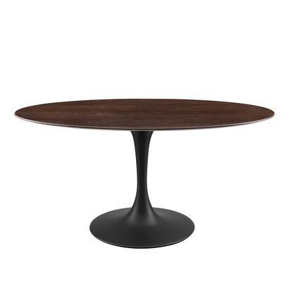 Modway Lippa EEI4887BLKCHE Dining Room Table Brown, EEI 4887 BLK CHE 1