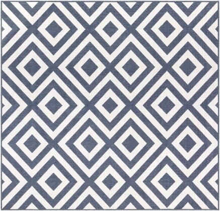 Alfresco ALF-9657 7'3″ Square Modern Rugs in Charcoal