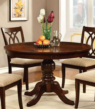 Furniture of America Carlisle CM3778RTTABLE Dining Room Table Brown, main image