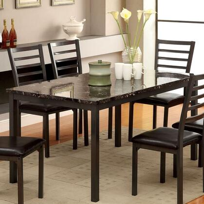 Furniture of America Colman CM3615T60 Dining Room Table , main image