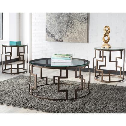 Flash Furniture Frostine FSDTS310DBGG Living Room Table Set Brown, 1