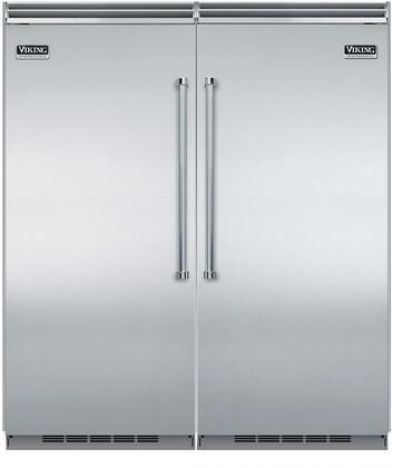 Viking 5 Series 735613 Column Refrigerator & Freezer Set Stainless Steel, 1