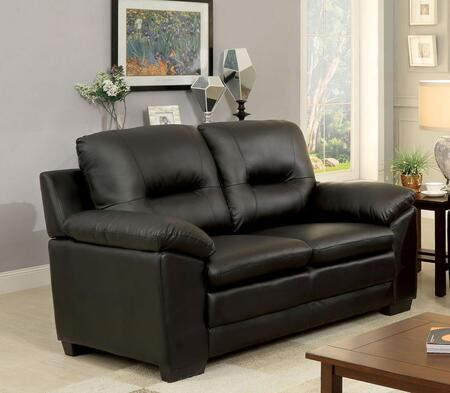 Furniture of America Parma CM6324BKLV Loveseat Black, Main Image