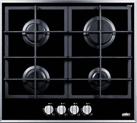 Summit  GC424BGL Gas Cooktop Black, Main Image