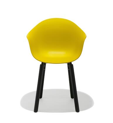 TA Collection TO-1733M-1502B Upholstered Armchair/Er Base Black Powder Coated/Mustard