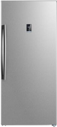 Midea  WHS507FWESS1 Upright Freezer Stainless Steel, Main Image