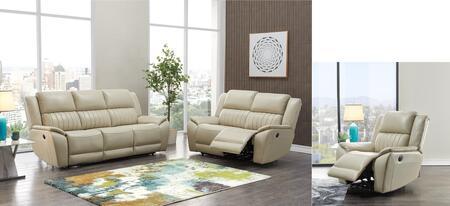 UM014-SLR 3 Piece Living Room Set with Power Recliner Sofa  Power Reclining Loveseat  Power Recliner in
