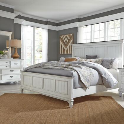 Liberty Furniture Hamilton 417BRKPBDM Bedroom Set White, 417 br qpbdm