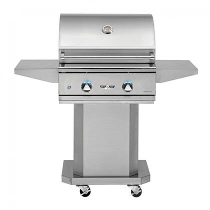 DHBQ26G-DL 26″ Freestanding Liquid Propane Grill with Two Stainless Steel U-Burners  420 sq. in. Grilling Space  Warming Rack and LED Control Panel