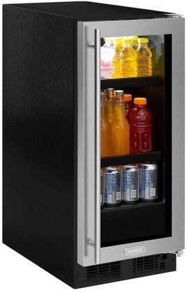 """Marvel ML15BCG2RS 15"""" Beverage Center, stainless steel frame glass door, right hinge"""