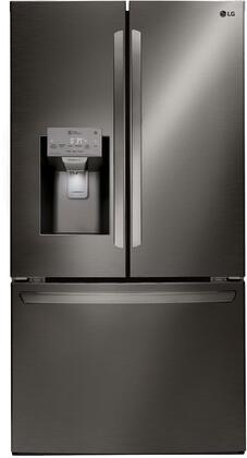 LG  LFXS28968D French Door Refrigerator Black Stainless Steel, Main Image