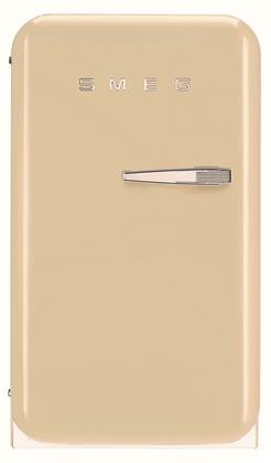 Smeg 50s Retro Style FAB5ULP Compact Refrigerator Bisque, Front View