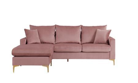 Chic Home Alexandra FSA9514AC Sectional Sofa Pink, Main Image