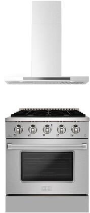 Forte  1458120 Kitchen Appliance Package Stainless Steel, Main image