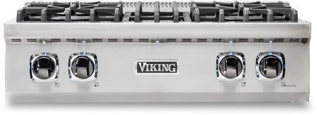 Viking 5 Series VRT5304BSS Gas Cooktop Stainless Steel,  Front view