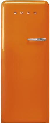 FAB28ULOR3 24″ 50's Retro Style Refrigerator with 9.92 cu. ft. Total Capacity  LED Lighting  Adjustable Glass Shelves and Automatic Defrost  Left