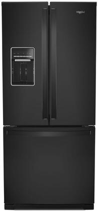 Whirlpool  WRF560SEHB French Door Refrigerator Black, Main Image