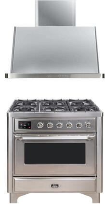 Ilve  1240633 Kitchen Appliance Package Stainless Steel, Main image