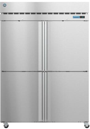 R2A-HS 55″ Steelheart Series Two Section Half Door Reach-In Refrigerator with 50.37 cu. ft. Capacity  6 Adjustable Shelves  4″ Casters and LED