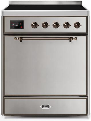 Ilve Majestic II UMI30QNE3SSB Freestanding Electric Range Stainless Steel, Majestic 30 inch Range