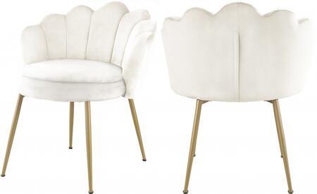 Meridian Claire 748CREAMC Dining Room Chair Cream, 748CREAM-C