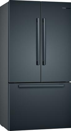 Bosch 800 Series B36CT80SNB French Door Refrigerator Black Stainless Steel, Main Image