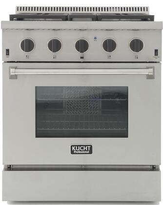 KRG3080U-K 30″ Professional-Class Natural Gas Range with 4.2 cu. ft. Convection Oven  4 Top Burners  Blue Porcelain Interior and High Quality Control