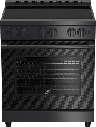 PRIR34450CF 30″ Pro-Style Induction Range with 4 Elements  5.7 cu. ft. Capacity  Residual Heat Indicator and Surf Convection in Carbon