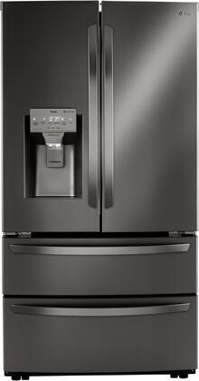 LG  LRMXS2806D French Door Refrigerator Black Stainless Steel, LRMXS2806D Front