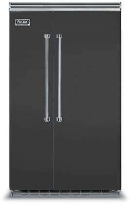 Viking 5 Series VCSB5483CS Side-By-Side Refrigerator Black, VCSB5483CS Side-by-Side Refrigerator