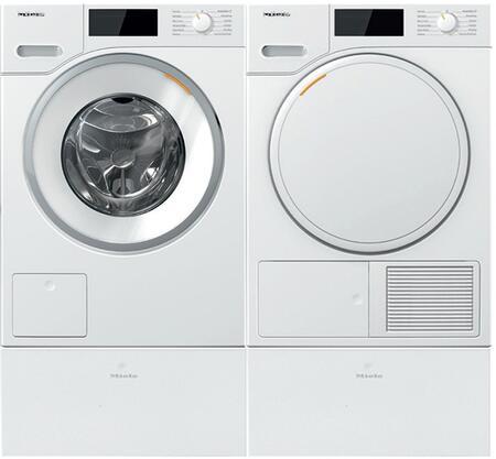 Miele  1447674 Washer & Dryer Set White, 1