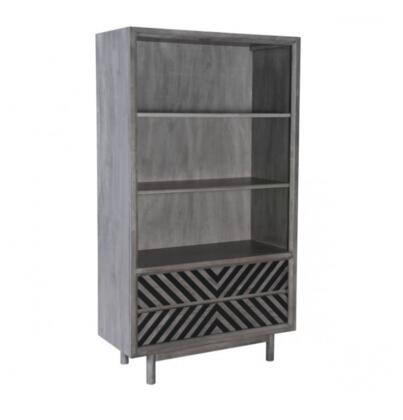 Zuo Raven 100973 Bookcase Gray, 100973 Front