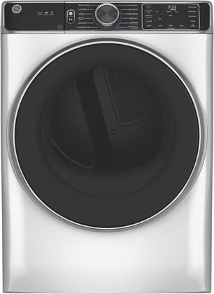 GE  GFD85ESSNWW Electric Dryer White, Main Image