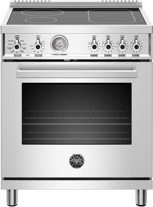 Bertazzoni Professional PROF304INMXE Freestanding Electric Range Stainless Steel, PROF304INMXE 30 inch Induction Range