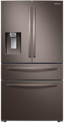 Samsung RF22R7351DT French Door Refrigerator Tuscan Stainless Steel, Main Image
