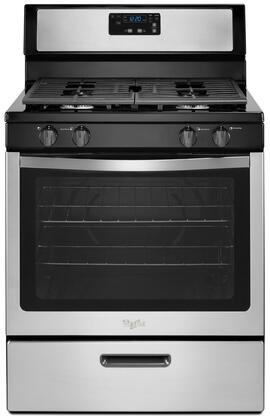 Whirlpool  WFG320M0BS Freestanding Gas Range Stainless Steel, Front