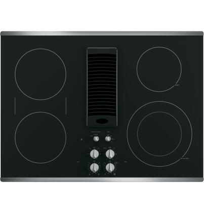 GE Profile  PP9830SJSS Electric Cooktop Stainless Steel, Main Image