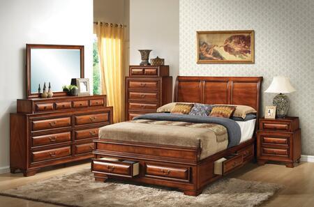 Glory Furniture G8850 G8850AFBDMNC Bedroom Set Brown, Main View