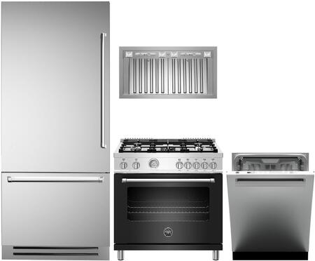 Bertazzoni  1000213 Kitchen Appliance Package Stainless Steel, main image