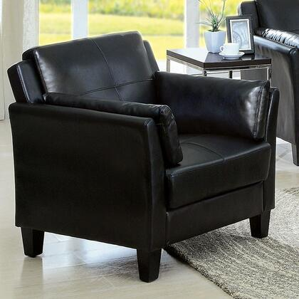 Furniture of America Pierre CM6717BKCHPK Living Room Chair Black, Main Image