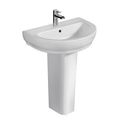 3-2041WH Harmony 650 Pedestal Lavatory  White-1