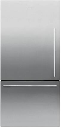 Fisher Paykel Contemporary RF170WDLX5N Bottom Freezer Refrigerator Stainless Steel, Front View