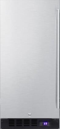 Summit SCFF1533BSSLHD Compact Freezer Stainless Steel, Main View