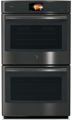 GE Profile  PT9551BLTS Double Wall Oven Black Stainless Steel, Main View