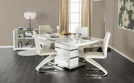 Furniture of America Midvale CM3650T4SC Dining Room Set White, main image