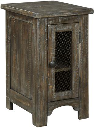Signature Design by Ashley Danell Ridge T4467 End Table Brown, T446-7 Angle