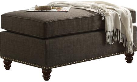 Acme Furniture Aurelia II 52378 Living Room Ottoman Gray, Ottoman