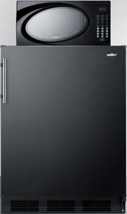 Summit  MRF663B Compact Refrigerator Black, MRF663B Microwave/Refrigerator Combination